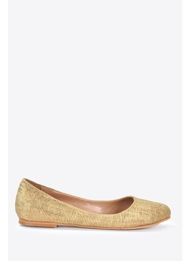 Vizon Ayakkabı Babet Altın